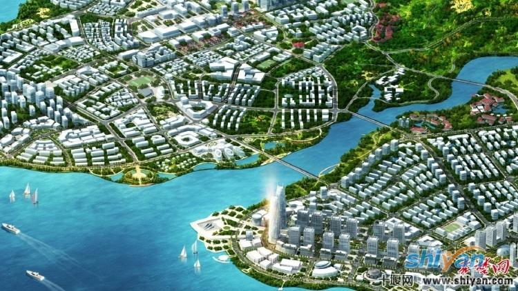 十堰北部新城区规划效果图
