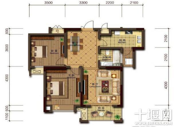 3万元能装修80平不到的两室一厅吗 求建议高清图片