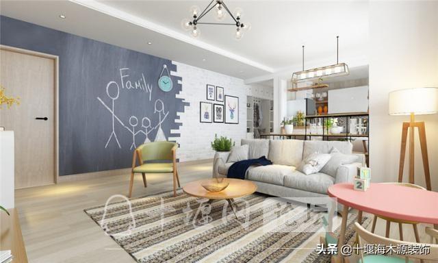 十堰装修 110平米的三居室装修,现代风格让人眼前一亮!-2.jpg