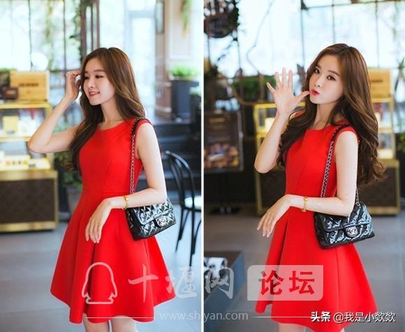 分享时尚,脸颊漂亮,身穿红色裙子的小姐姐,真的太漂亮了-4.jpg