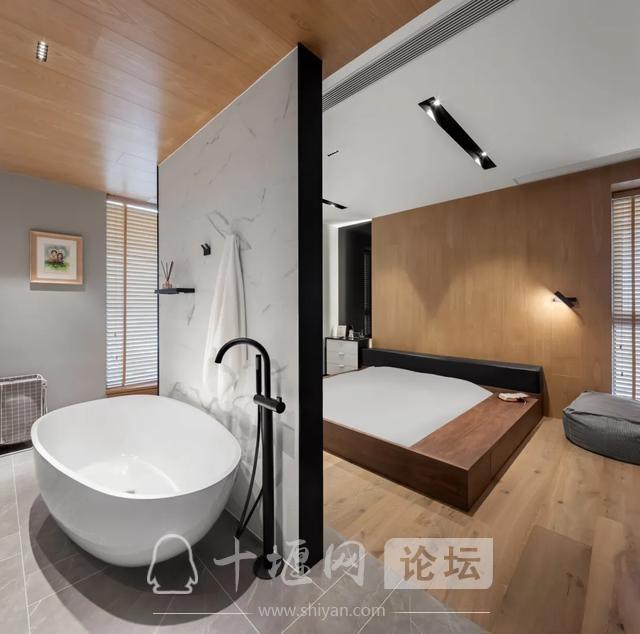 十堰装修180㎡现代简约,有温度的木色,满屋温馨气息-14.jpg
