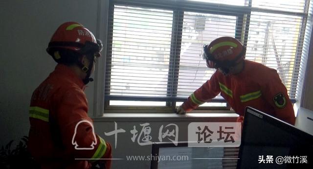 竹溪县:接到报警称办公室有蛇 消防员小哥哥赶到现场一看却笑了……-1.jpg