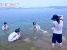 丹江白西岛人像外拍作业。