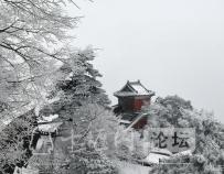 雪后的湖北十堰武当山景色——犹如仙境一般