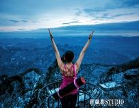 十堰喜摄影—武当山雪景瑜伽